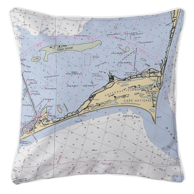 Longshore Tides Ellisburg Cape Hatteras Nc Throw Pillow Wayfair