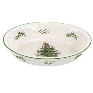 Christmas Tree Serve Rim Dish By Spode