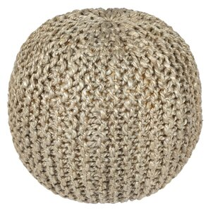 Anemone Rope Cotton Upholstered Pouf Ottoman by Ivy Bronx