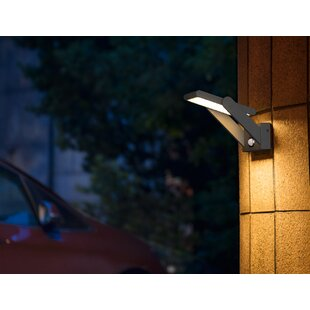 Willenbard LED Solar Outdoor Sconce With Motion Sensor By Sol 72 Outdoor
