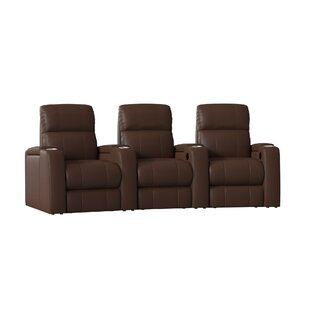 Large Home Theater Curved Row Seating (Row of 3) by Latitude Run