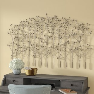 Antique Silver Trees Wall Décor