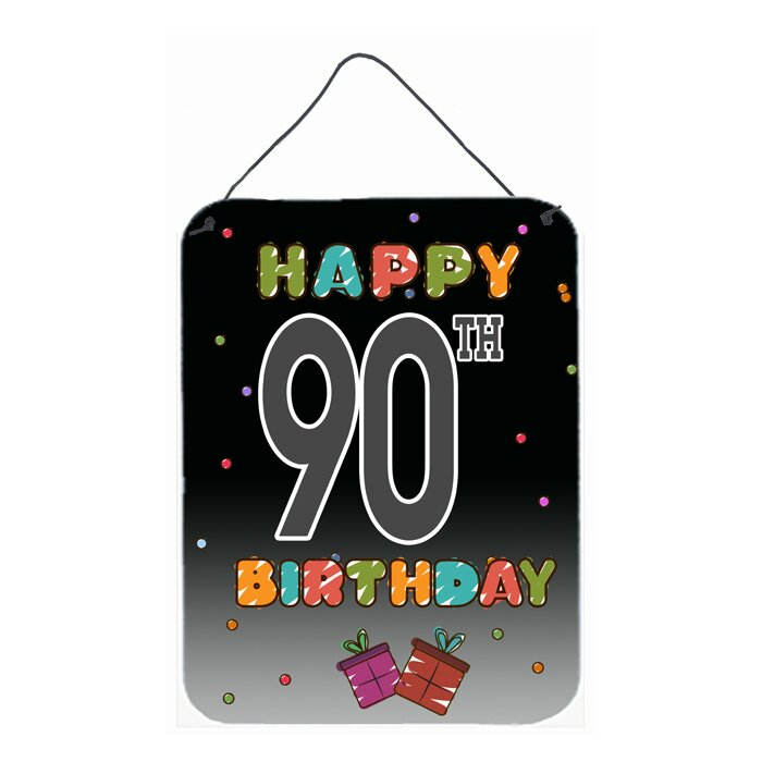 Happy 90th Birthday By Denny Knight Textual Art Plaque