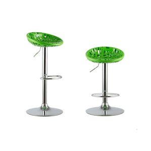 Adjustable Height Swivel Bar Stools (Set of 2) by Attraction Design Home
