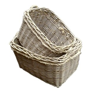 Glastbury 2 Piece Willow Log Carrier Set By August Grove