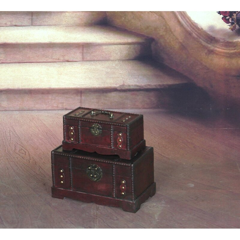 Loyal Vintage Antiqued Wooden Box Tea Imports Chest Crate