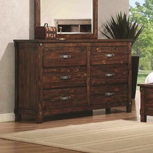 Whitney 6 Drawer Double Dresser with Mirror