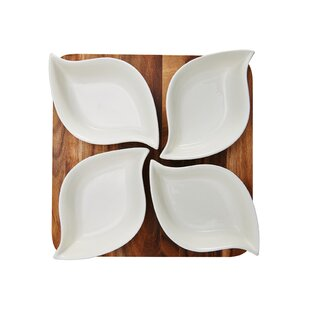 5 Piece Divided Serving Dish Set by Pfaltzgraff