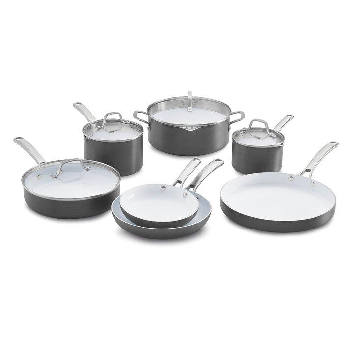Calphalon Clic Ceramic 11 Piece Non Stick Cookware Set