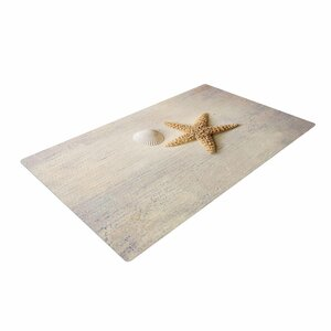 Sylvia Cook Starfish and Shell Beige/Yellow Area Rug