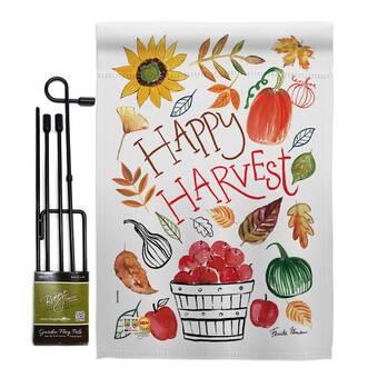 Breeze Decor Home Be Grateful Fall 2 Sided Polyester 40 X 28 In Garden Flag Wayfair