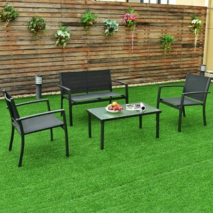 Heckman Garden Deck 4 Piece Outdoor Patio Dining Set