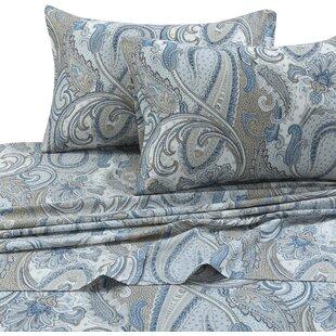 Feeney Paisley 300 Thread Count 100% Cotton Sheet Set