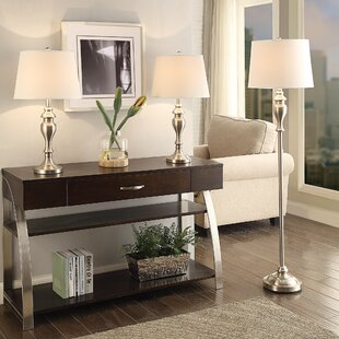 Darby Home Co Putterham 3 Piece Table and Floor Lamp Set