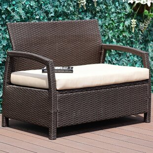 Leeman Outdoor Rattan Garden Bench