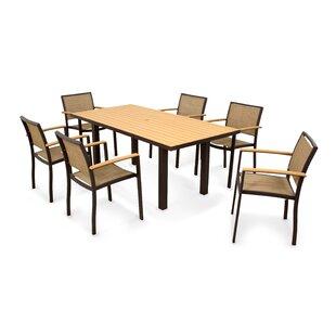 POLYWOOD® Bayline 7 Piece Teak Dining Set