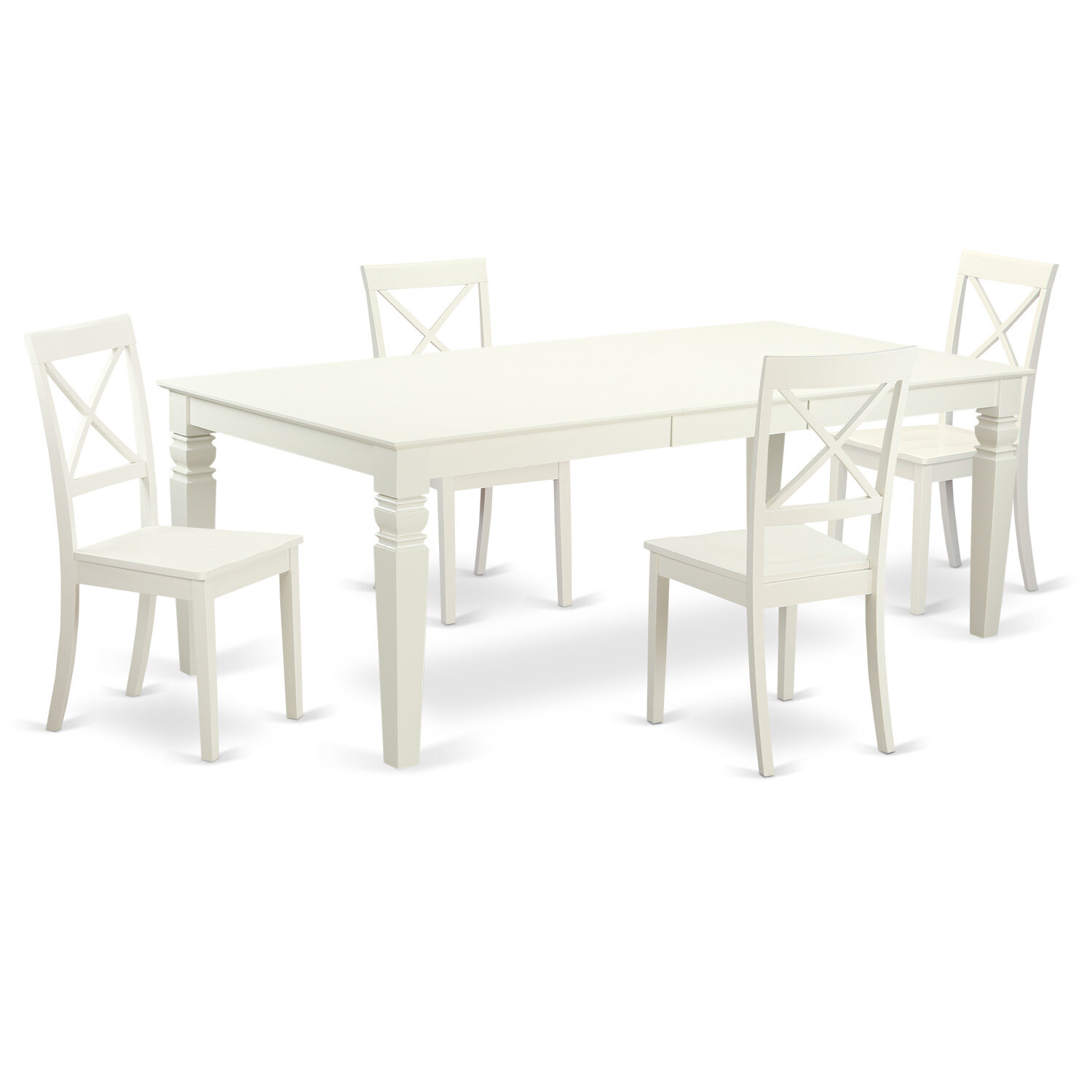 Darby Home Co Wimbish 5 Piece Butterfly Leaf Solid Wood Dining Set Wayfair