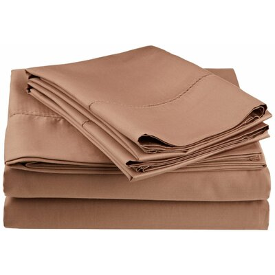 Freeburg 600 Thread Count Sheet Set Color: Taupe, Size: King