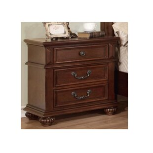 Revilla 3 Drawer Nightstand