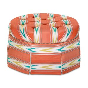 Maldive Nosara Sunset Round Ottoman by Eastern Accents