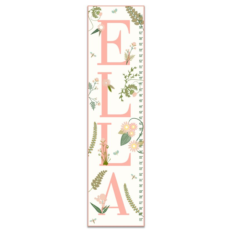 Harriet Bee Tucker Floral Personalized Growth Chart Wayfair
