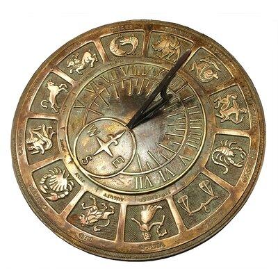 Richville Brass Zodiac Sundial Fleur De Lis Living