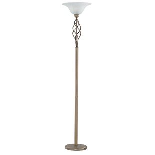 Battery operated floor lamps wayfair candlewood 179cm torchiere floor lamp aloadofball Choice Image