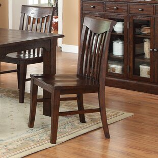 Tremper Slat Solid Wood Dining Chair (Set of 2) Millwood Pines
