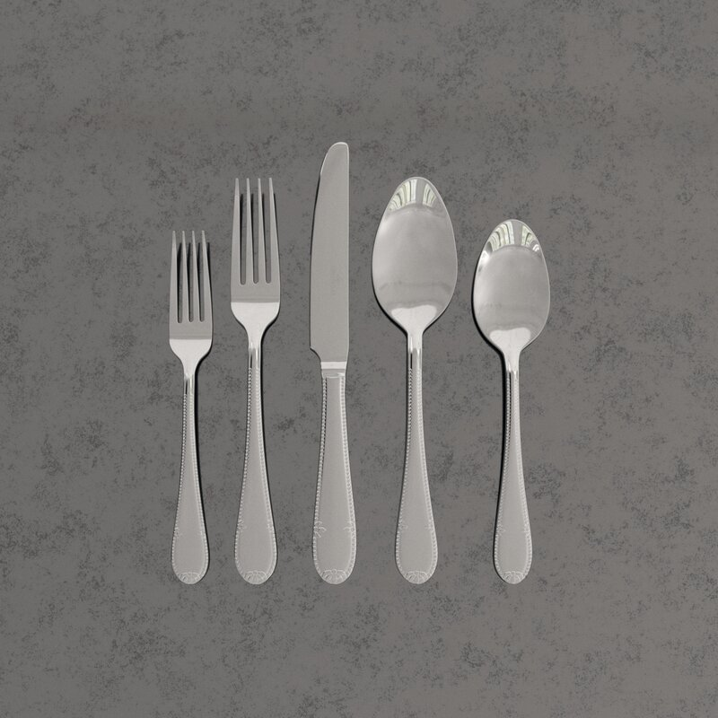 Villeroy Boch Mademoiselle 20 Piece 18 10 Stainless Steel Flatware Set Service For 4 Reviews Perigold