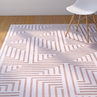 Best Drew White/Blush Area Rug By Corrigan Studio