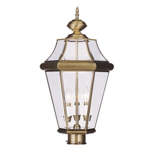 Affordable Price Violetta 3 Light Outdoor Post Head By Darby Home Co