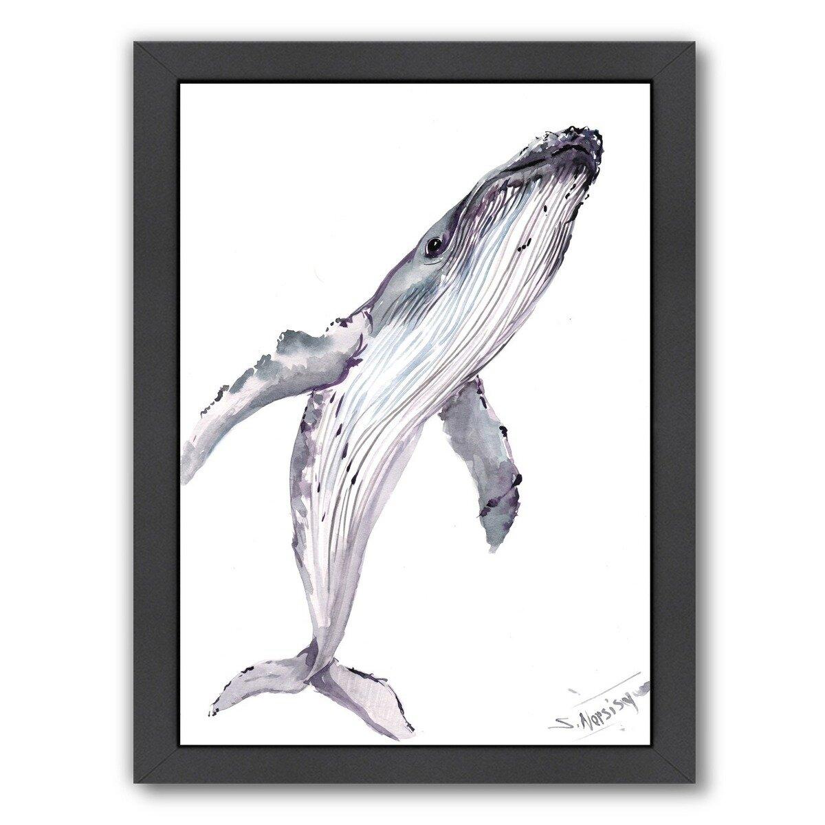 East Urban Home Humpback Whale Framed Painting Print Wayfair