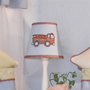 Embroidered lamp shade wayfair fire engine 8 cotton empire lamp shade aloadofball Choice Image