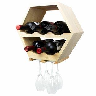 Wrought Studio Calidia Honeycomb 5 Bottle Wall Mounted Wine Rack
