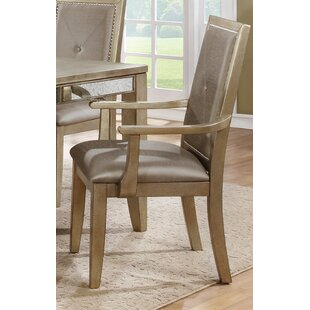 Dowson Contemporary Upholstered Arm Chair (Set of 2) Willa Arlo Interiors