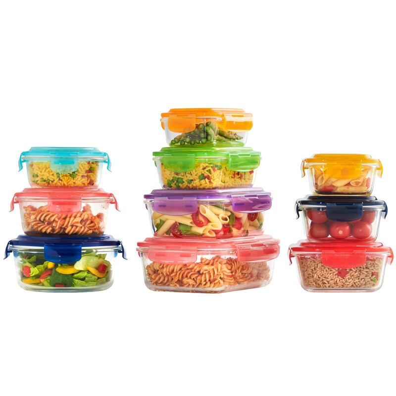 VonShef Glass 10 Container Food Storage Set Reviews Wayfair