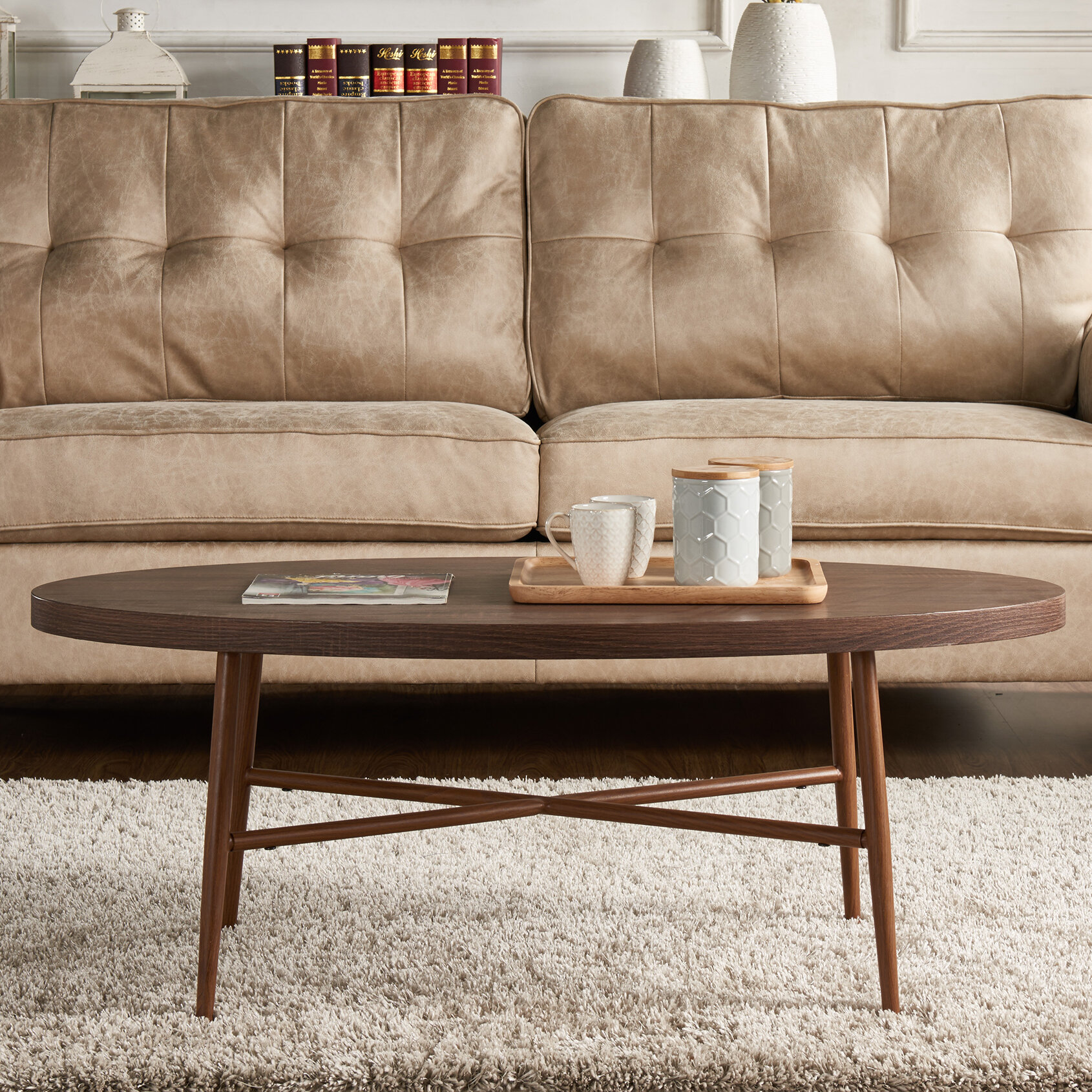 George oliver umstead oval coffee table reviews wayfair