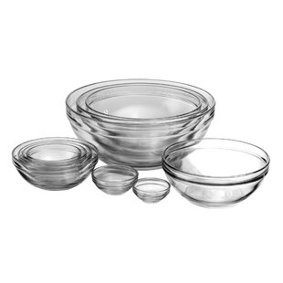 Anchor 10 Piece Glass Nesting Mixing Bowl Set