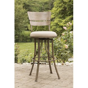 Ilyana 26 Swivel Indoor/Outdoor Patio Bar Stool August Grove