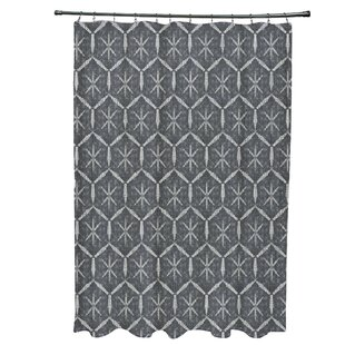 Lassiter Tufted Geometric Single Shower Curtain