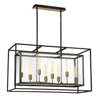 Gracie Oaks Fechteler 8-Light Kitchen Island Pendant