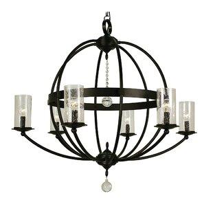 Framburg Compass 6-Light Shaded Chandelier
