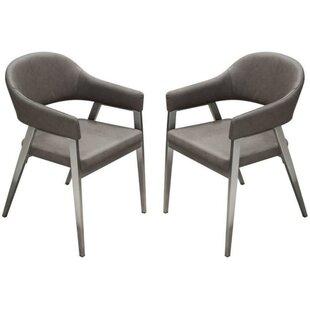 Orren Ellis Izidora Leatherette Armchair (Set of 2)