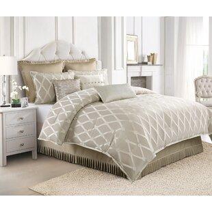 Talbert Green Clover Lattice Reversible Comforter set