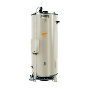 A.O. Smith Commercial Tank Type Water Heater Nat Gas 85 Gal Master-Fit 366,000 BTU Input Multiflue Model