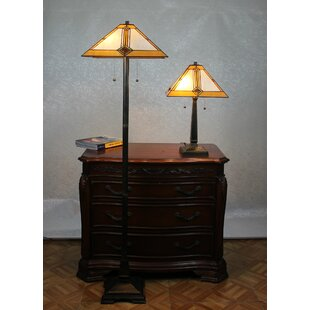 Loon Peak Jace 2 Piece Table and Floor Lamp Set