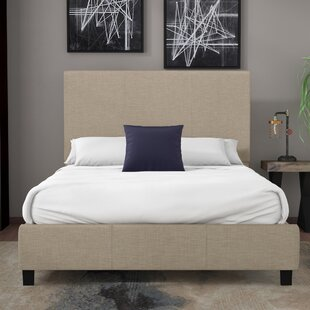 Natural Queen Upholstered Panel Bed