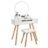 Kattan Vanity Set with Stool and Mirror by Corrigan Studio®