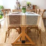 Dumas Elegant Rectangle Cotton and Linen Tablecloth