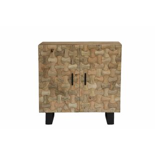 Union Rustic Burkes Interlocked Bar Cabinet